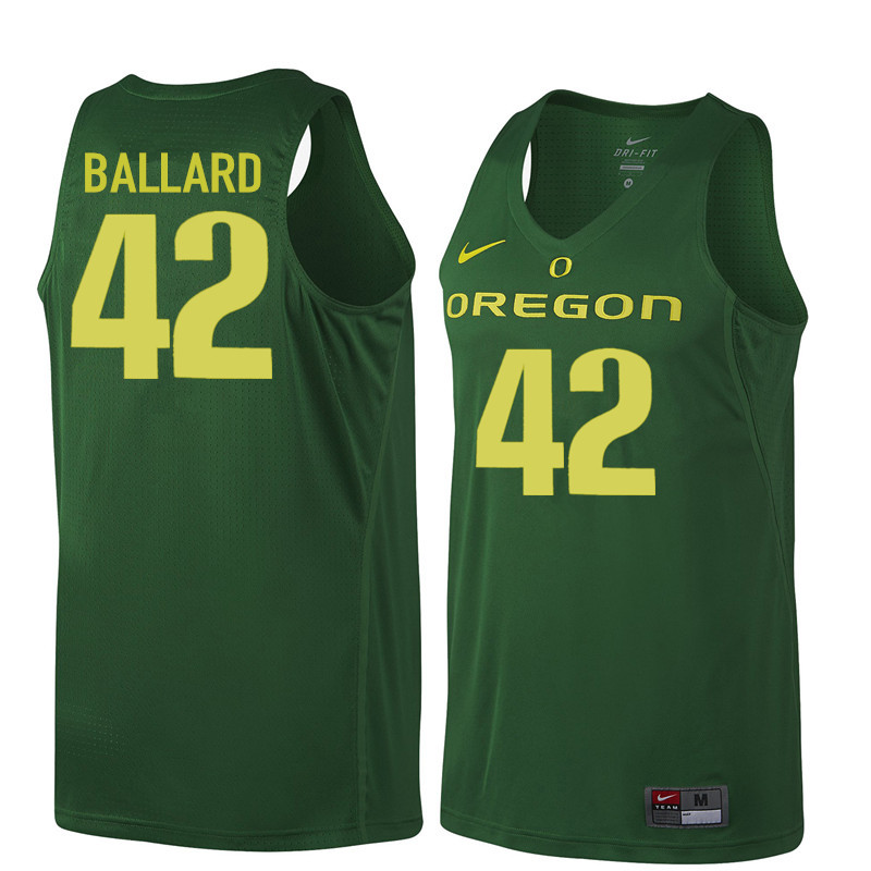 Men Oregon Ducks #42 Greg Ballard College Basketball Jerseys Sale-Dark Green